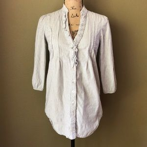 Anthropologie Odille striped button down top